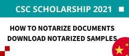 How to Notarize Documents for CSC Scholarship 2021 in Study in China
