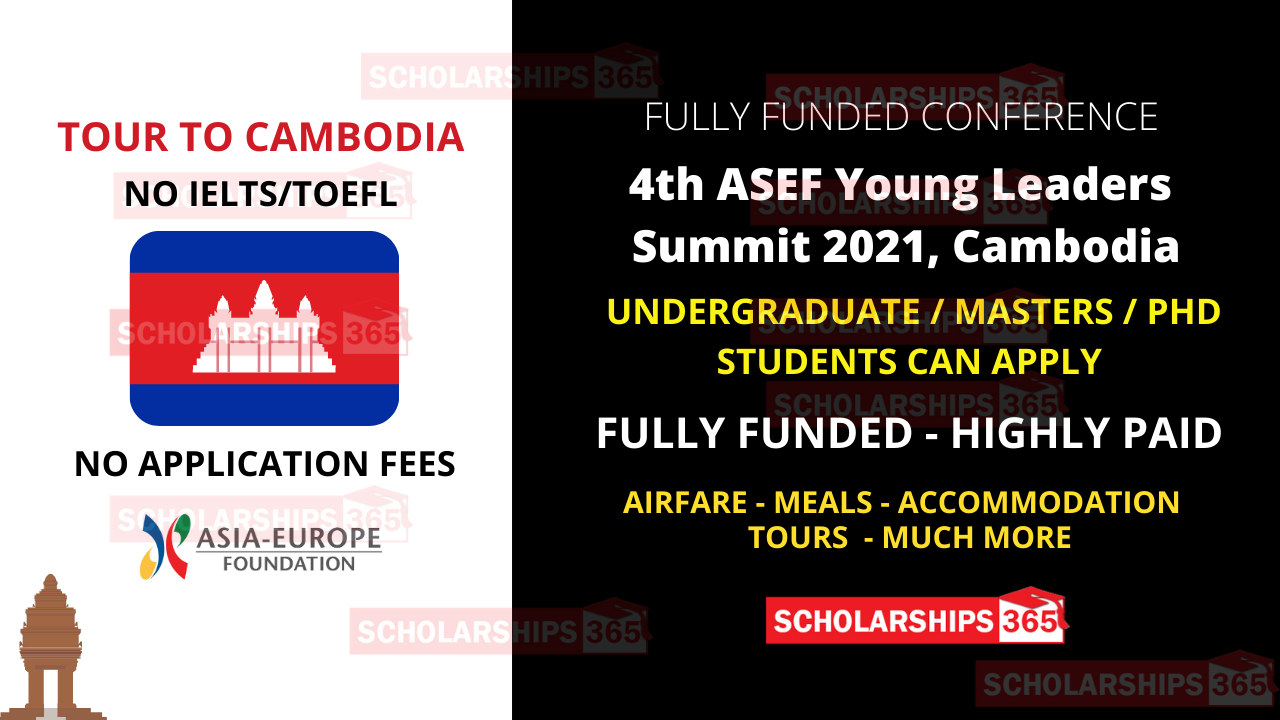 4th ASEF Young Leaders Summit 2021 in Cambodia | Fully Funded Conference