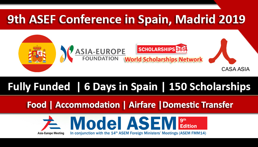 9th ASEF Conference in Spain Madrid 2019 Fully Funded For Students - Asia Europe Foundation