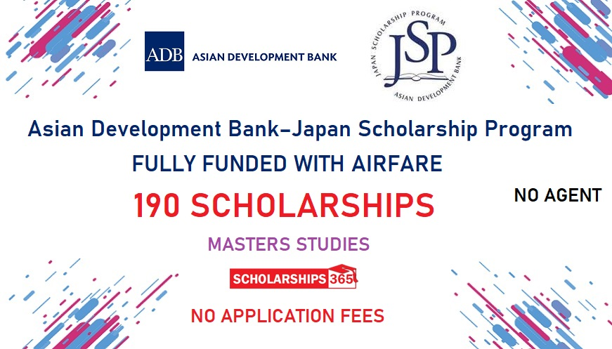 Asian Development Bank Scholarship 2020 Fully Funded - World Wide