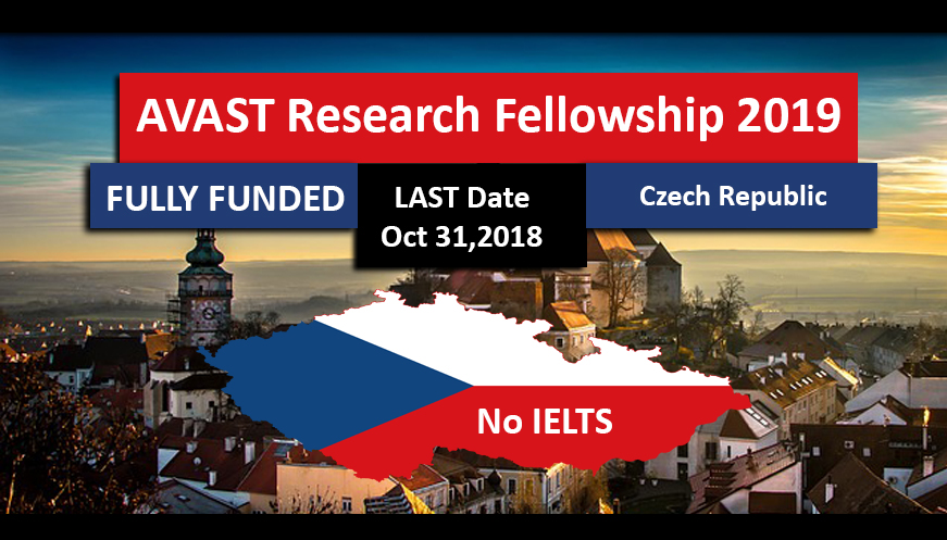 AVAST Research Fellowship 2018-2019 for International Students in Czech Republic