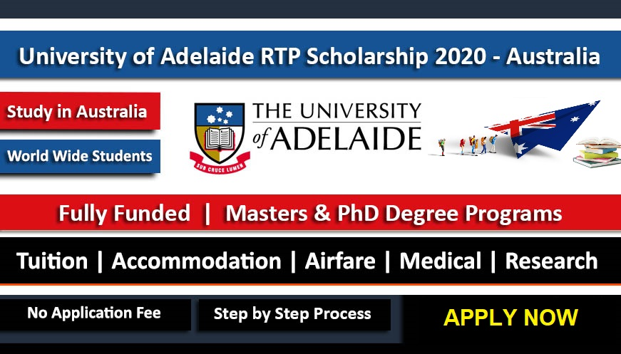 University of Adelaide Australian Government Research Scholarship 2021 - Fully Funded