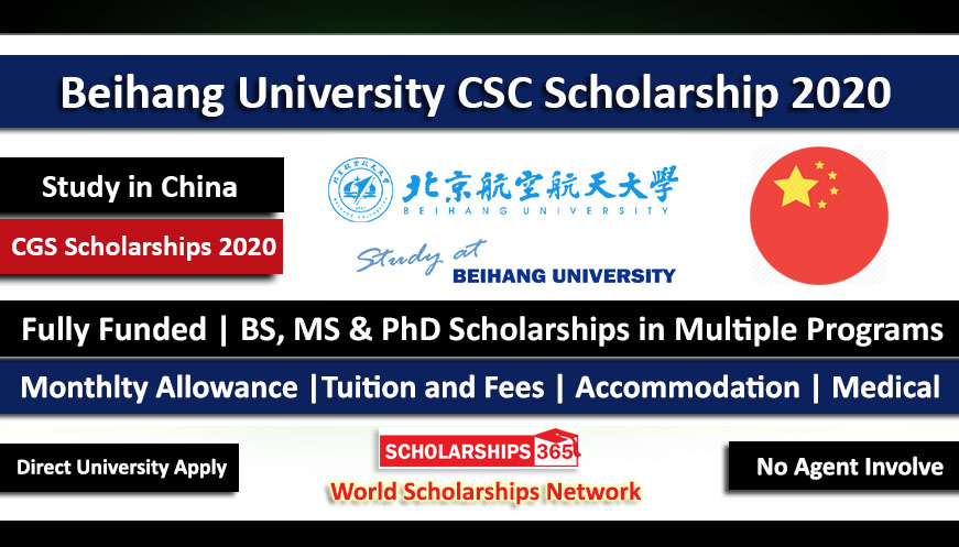 Beihang University CSC Scholarships 2020 - Fully Funded - Study in China