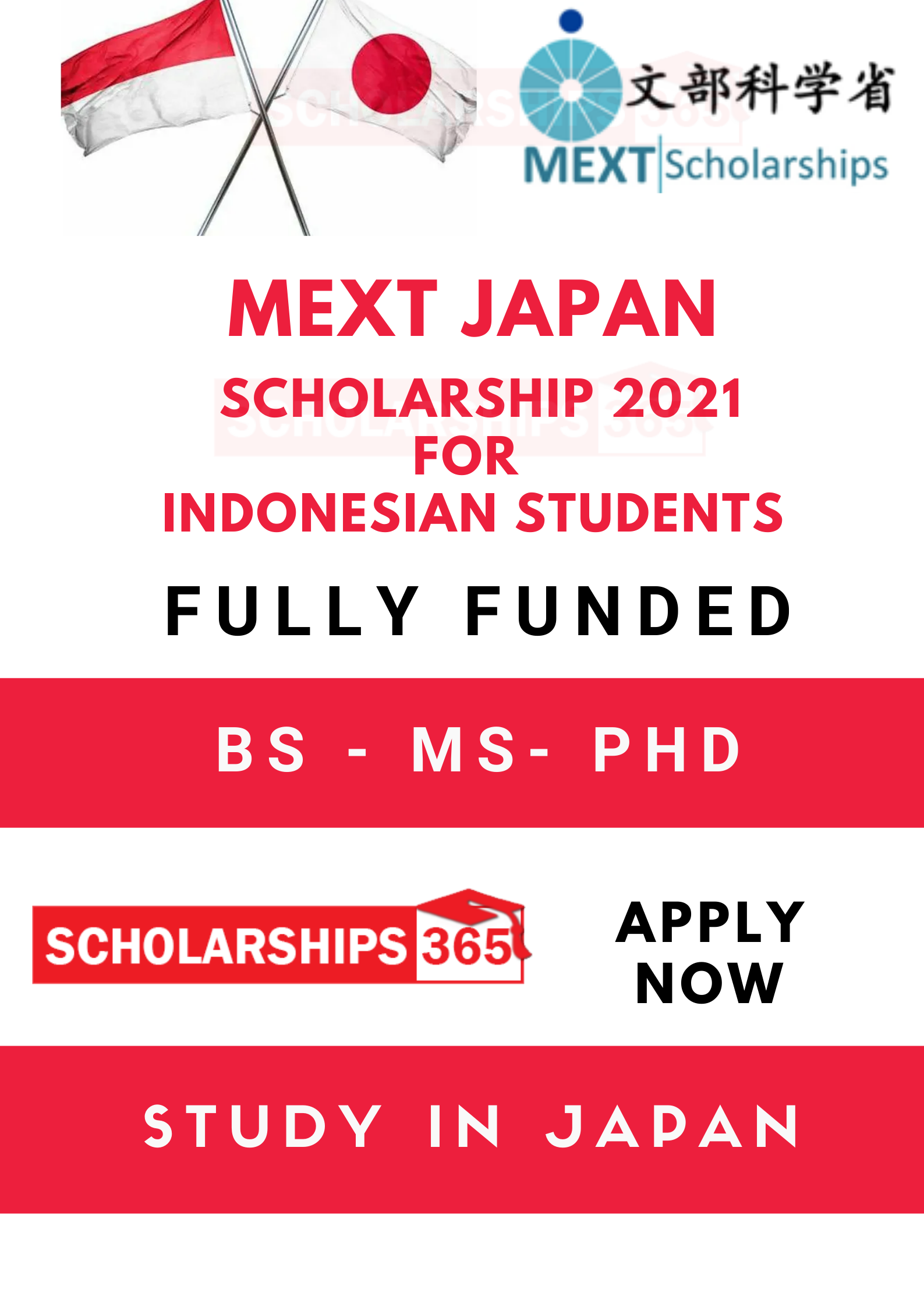 MEXT Scholarship 2021 for Indonesian Students - Fully Funded