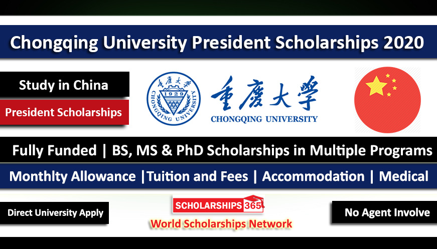 Chongqing University President Scholarship 2020-2021 - BS-MS-PHD - Fully Funded