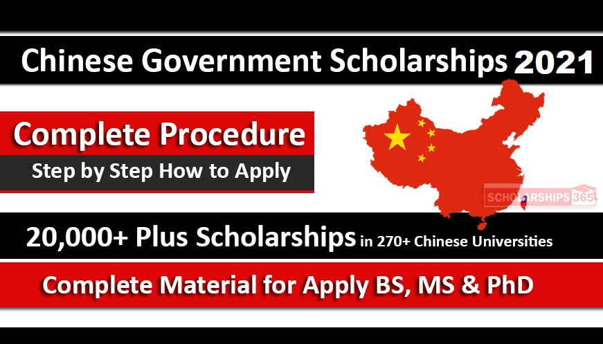 CSC Scholarships 2021 Process Under Chinese Government Scholarship 2021