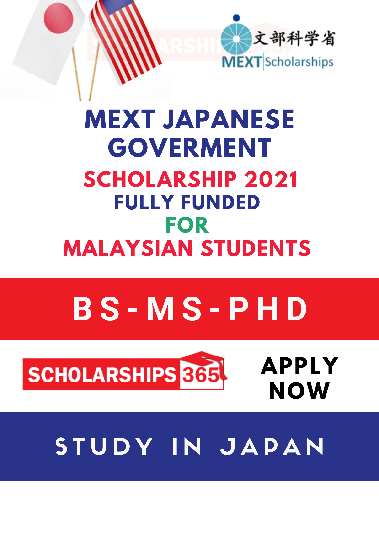 MEXT Japanese Government Scholarship 2021 for Malaysian ...