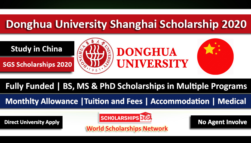 Donghua University Shanghai Government Scholarship 2020 - Fully Funded