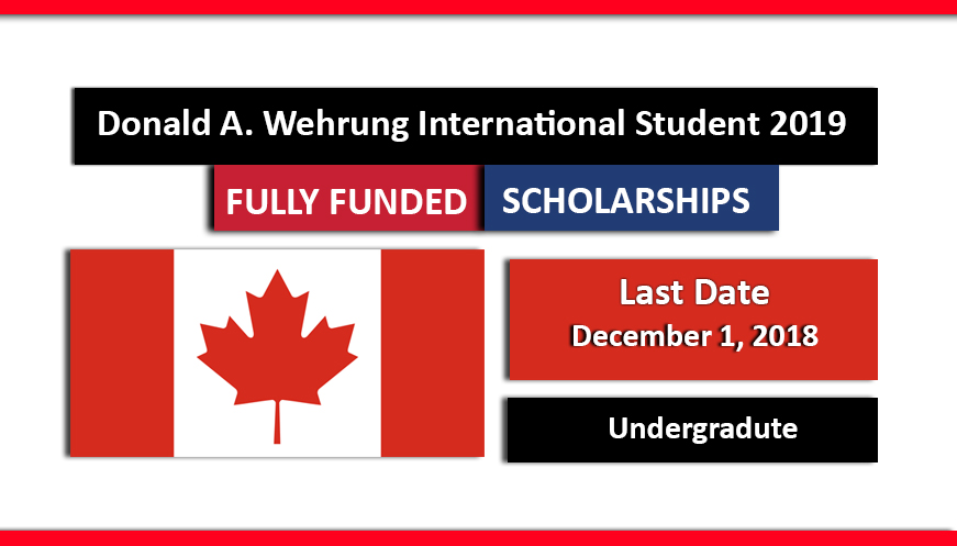 Donald A. Wehrung International Student Scholarships Award 2019