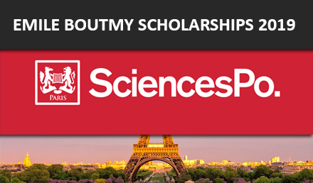 Emile Boutmy Scholarship Science Po 2019 in Fully Funded