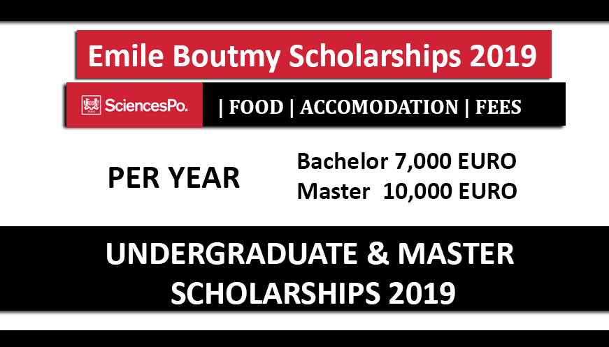 Emile Boutmy Scholarships 2019 Science Po Fully Funded in France