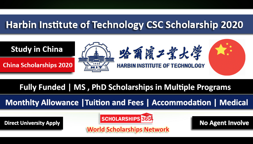 Harbin Institute of Technology Scholarship 2020 (Fully Funded) – Chinese Government Scholarship