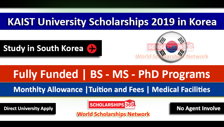 KAIST University Scholarships for International Students 2019 in South Korea