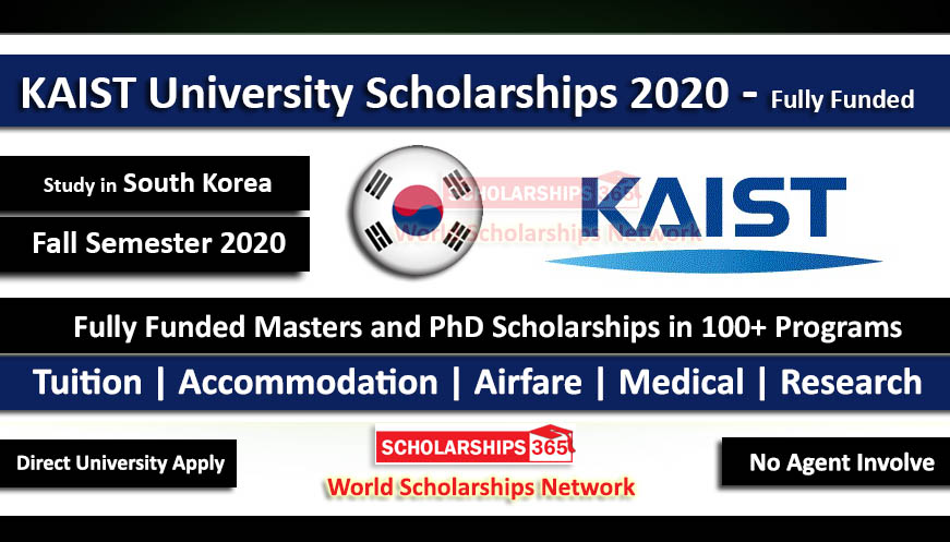 KAIST Scholarship 2020 South Korea (Fully Funded) for International Students