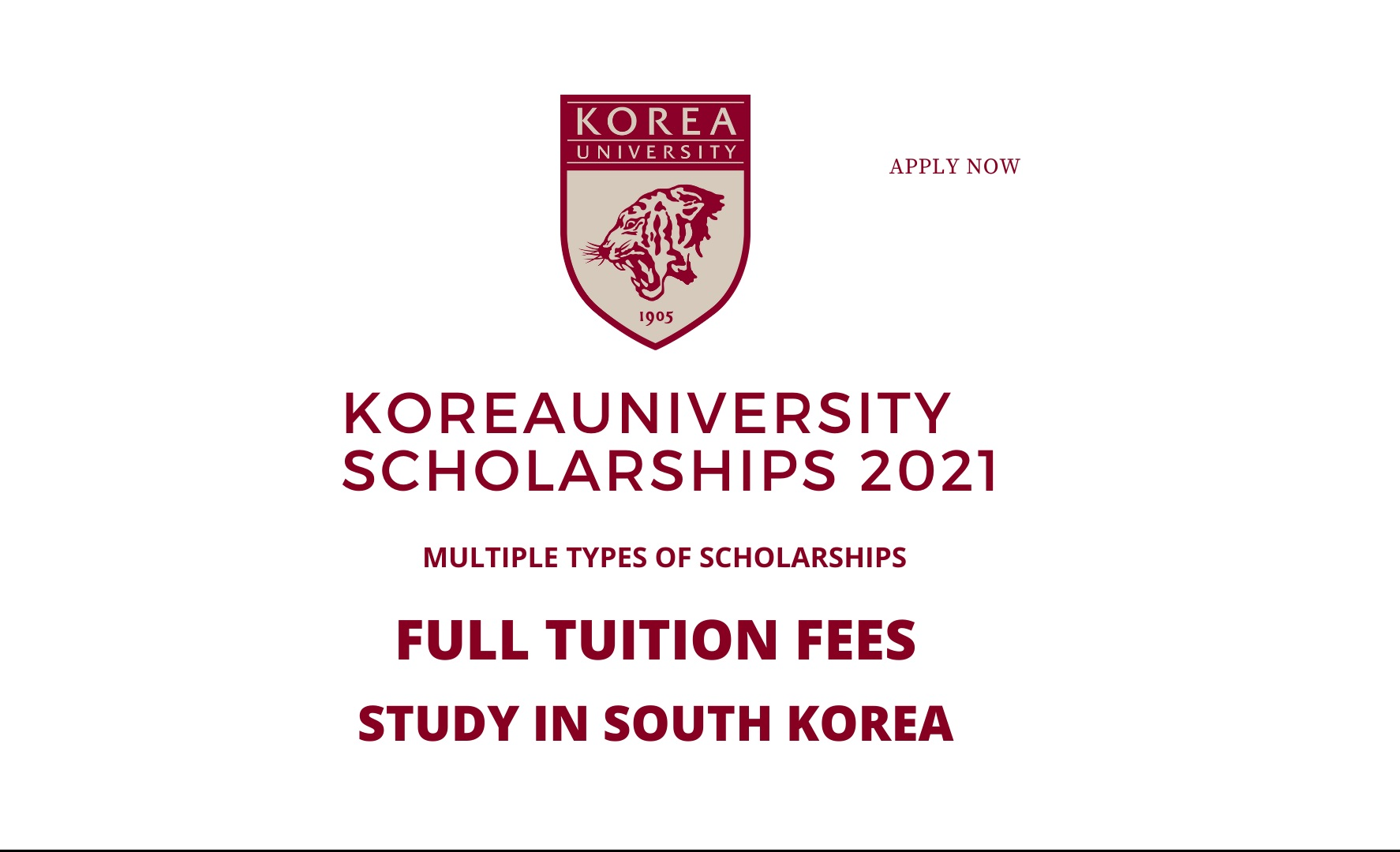 Korea University Scholarship 2021 - Spring - Study in Korea
