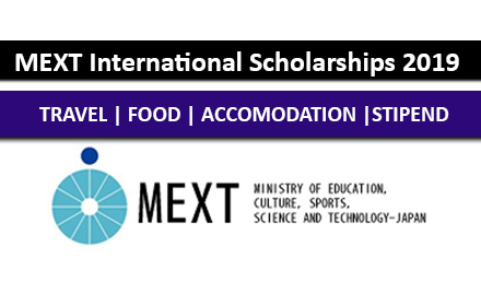 MEXT International Students Scholarships 2019