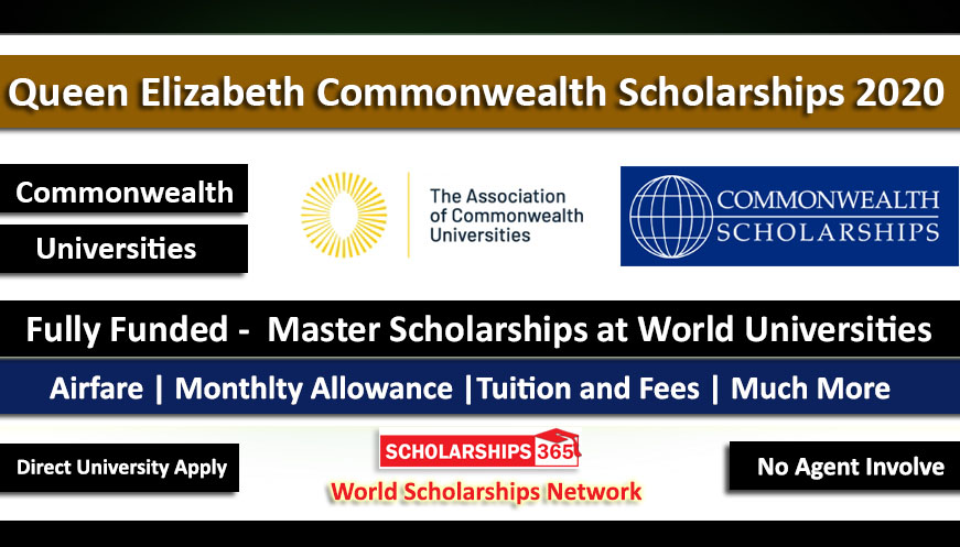 Queen Elizabeth Commonwealth Scholarship 2020 - Fully Funded