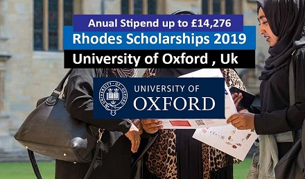 Rhodes Scholarships 2019 at Oxford University