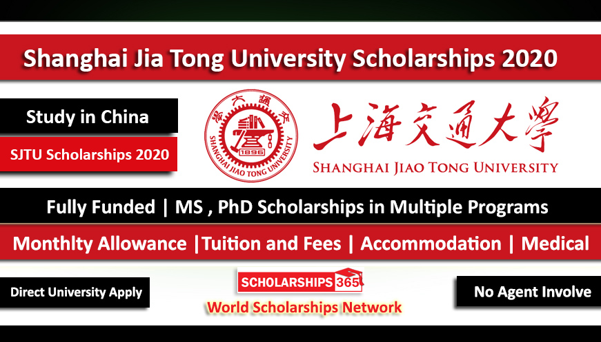 Shanghai Jiaotong University Scholarship 2021 - Fully Funded - Study in China