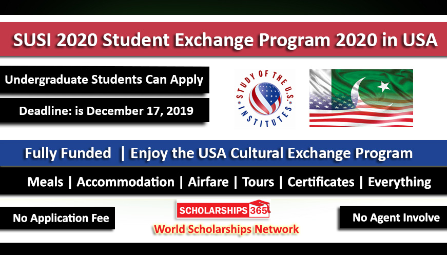 SUSI 2020 Summer Exchange Program in United States of America - Fully Funded