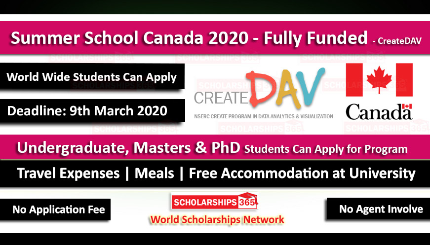 Summer School Canada 2020 - Fully Funded for International Students