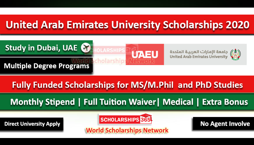 United Arab Emirates University Scholarship 2020 for International Students