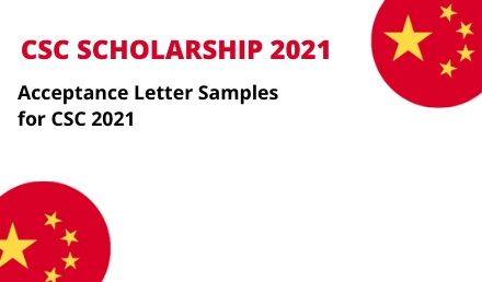 Acceptance Letter Samples for Chinese Government Scholarship