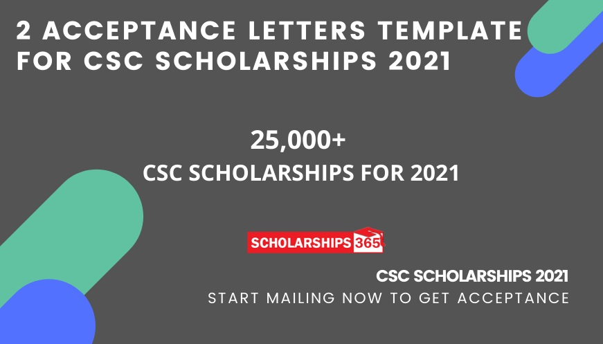 Acceptance Letter Samples for CSC Scholarships 2021-2022 Under Chinese Government