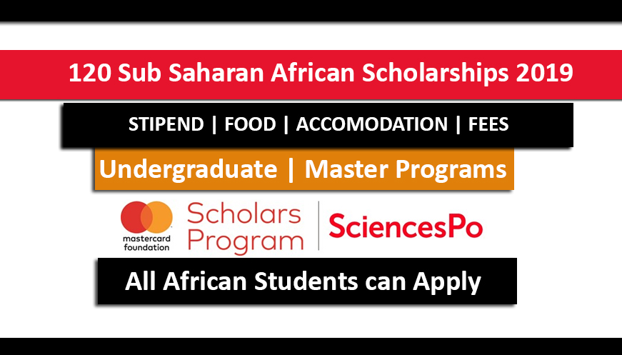 120 Sub Saharan African Scholarships 2019 at Science Po in France