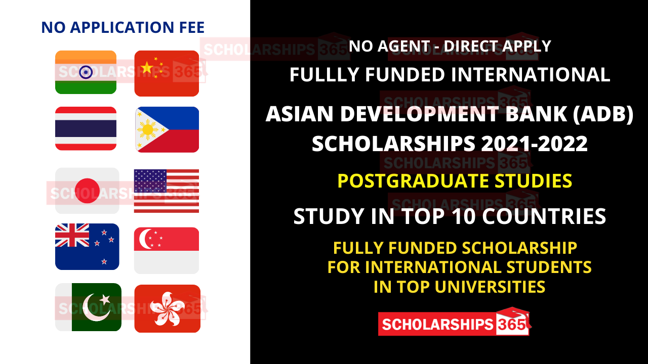 Asian Development Bank Scholarship 2021 Fully Funded - World Wide