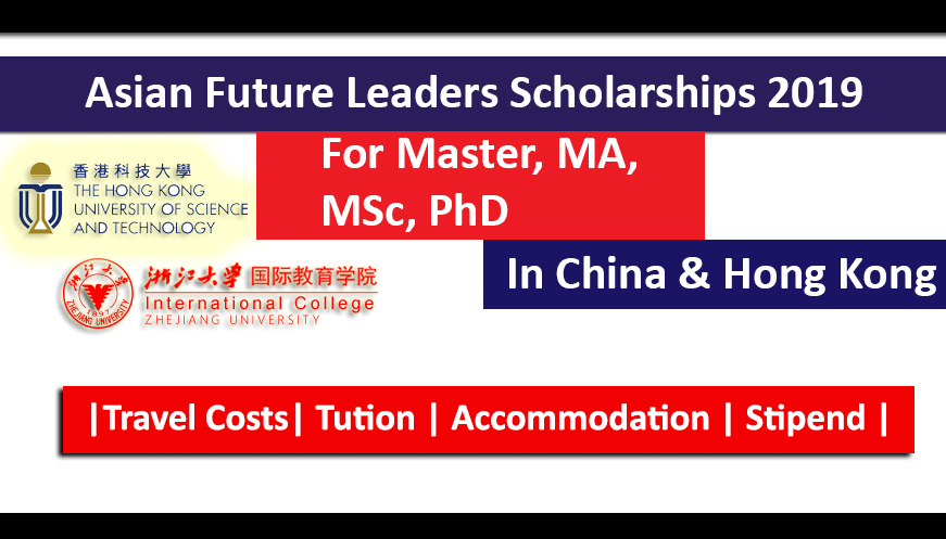 Asian Future Leaders Scholarship Program 2019 For Master, MA, MSc, PhD