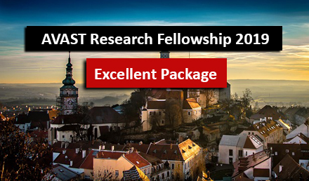AVAST Research Fellowship 2018-19 in Czech Republic  - Fellowship
