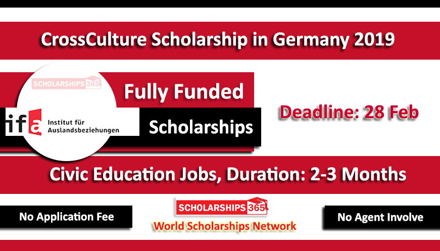 CrossCulture CCP Scholarship 2019 in Germany Fully funded