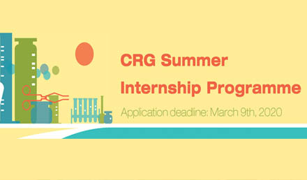 CRG Summer Internship 2020 in Spain - Fully Funded  - Undergraduate Scholarships 2020-2021