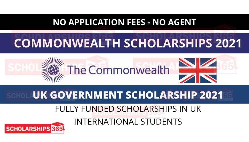 Commonwealth Scholarship 2021 in UK | Fully Funded | Study in UK