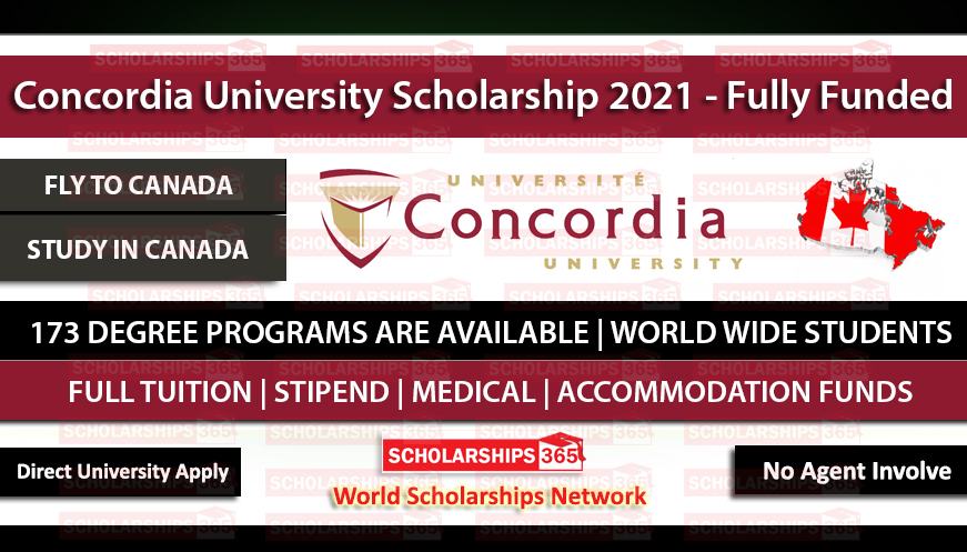 Concordia University Scholarships for international students 2021 - Study in Canada