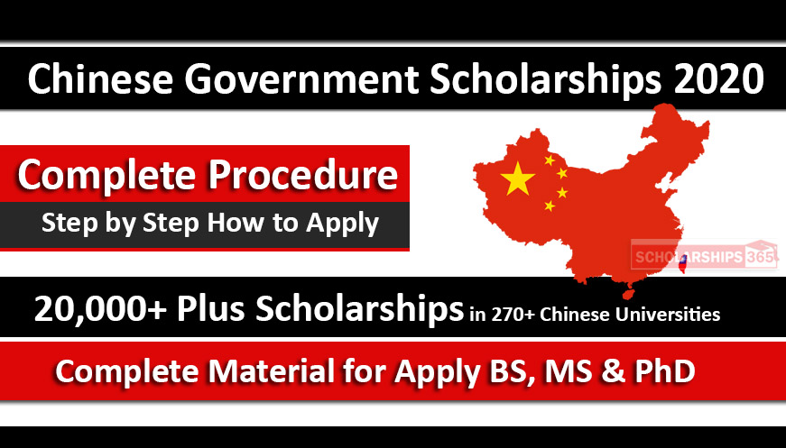 Chinese Government Scholarships 2020 Process - Chinese Scholarships Council (CSC)