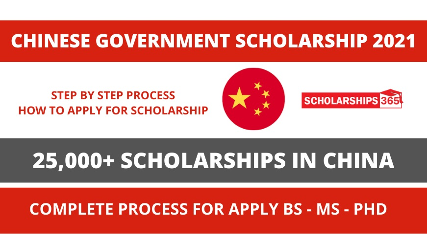 CSC - Chinese Government Scholarship Process 2021 - Study In China