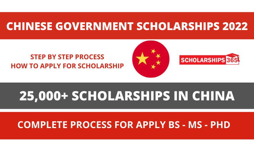 CSC - Chinese Government Scholarship Process 2022 - Study In China
