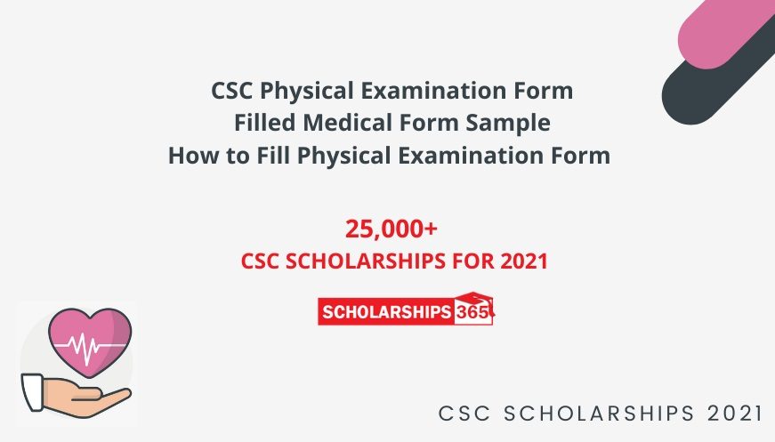 How to fill Physical Examination Form for CSC Scholarship 2021