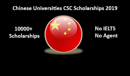 List of Chinese Universities CSC Scholarships 2019