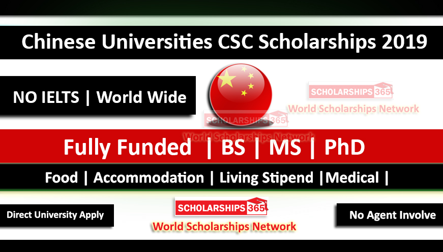List of Chinese Universities CSC Scholarships 2019 - Fully Funded