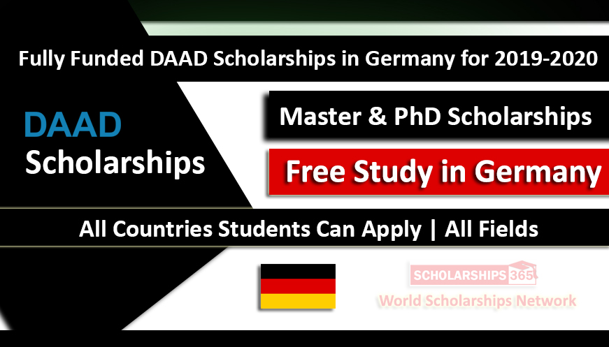 DAAD Scholarships in Germany for Development-Related Postgraduate Courses 2019-2020