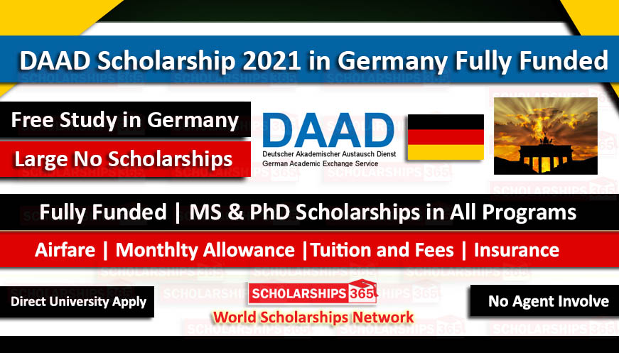 Daad Scholarship 2020 2021 In Germany Fully Funded Study In Germany