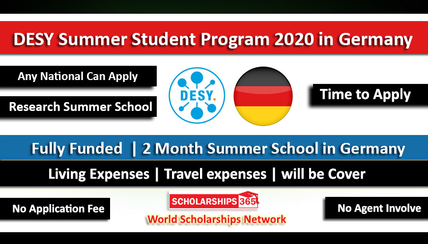 DESY Summer Student Program 2020 in Germany for International Student - Fully Funded