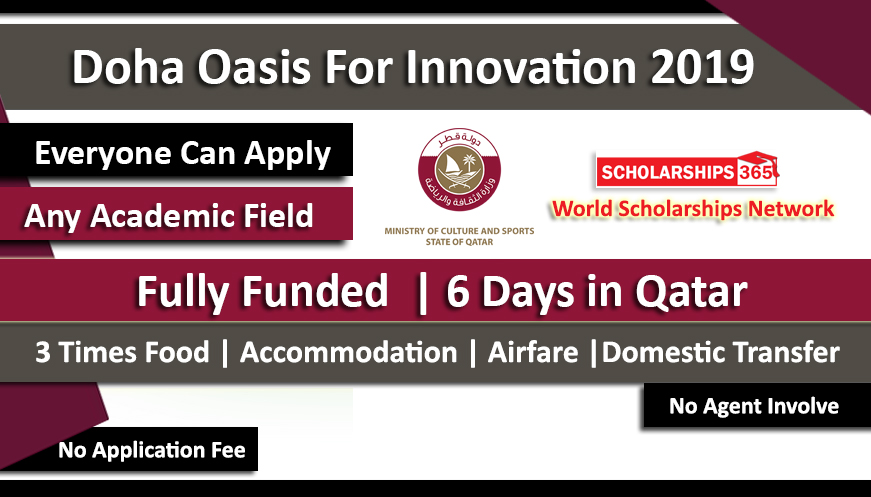 Doha Oasis For Innovation 2019 Fully Funded Doha QIC Youth Capital 2019