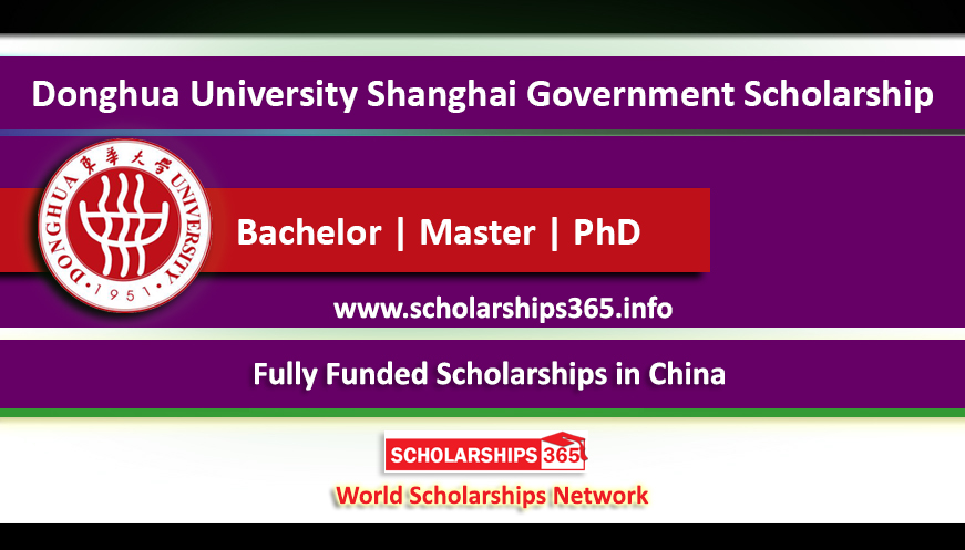 Donghua University Shanghai Government Scholarship 2019