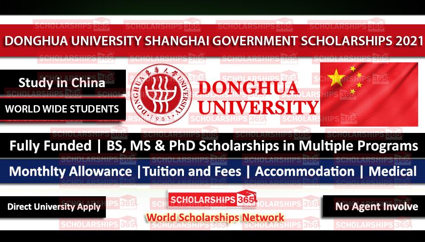 Donghua University Shanghai Government Scholarship 2021 - Fully Funded
