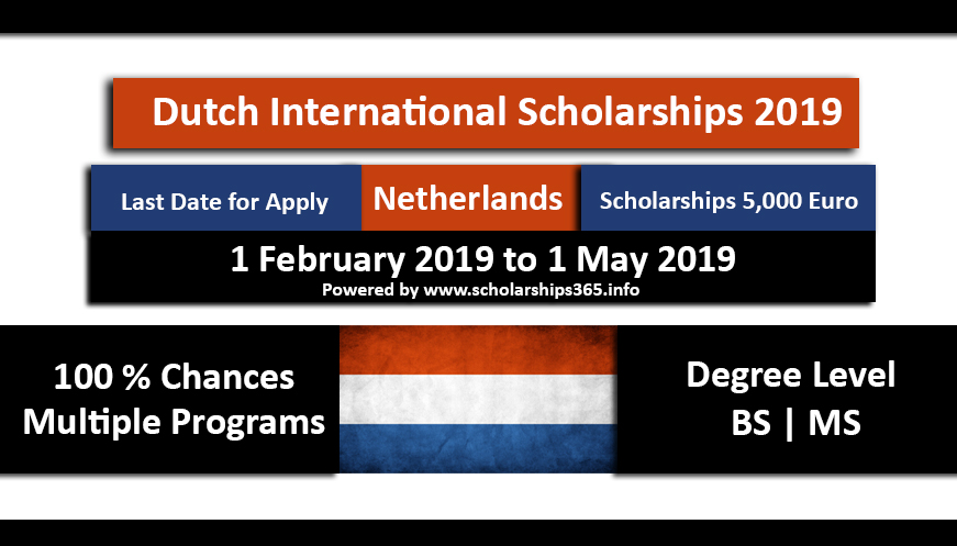 Holland Scholarships 2019 for International Students