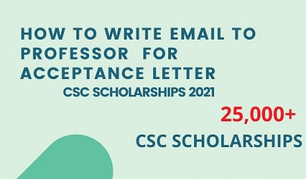 Email sample to Professor for Acceptance Letter for CSC 2021 - Undergraduate Scholarships 2020-2021